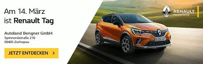 Am 14. März 2020 ist Renault Tag