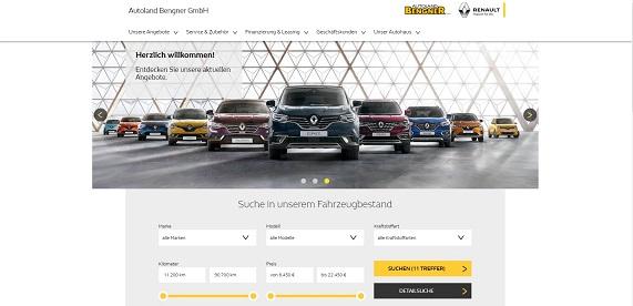 Unsere neue Webseite bei Renault